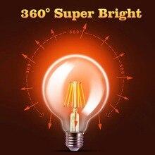 LED Filament Bulb E27  E14 Vintage Edison Lamp DIMMABLE COB 220 Retro Candle Light Globe Chandelier Lighting  Home Decor