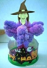 2019 17x10cm Purple DIY Magical Grow Paper Hallowmas Hellcat Tree Kit Magic Growing Halloween Carlin Trees Hex Toys For Children