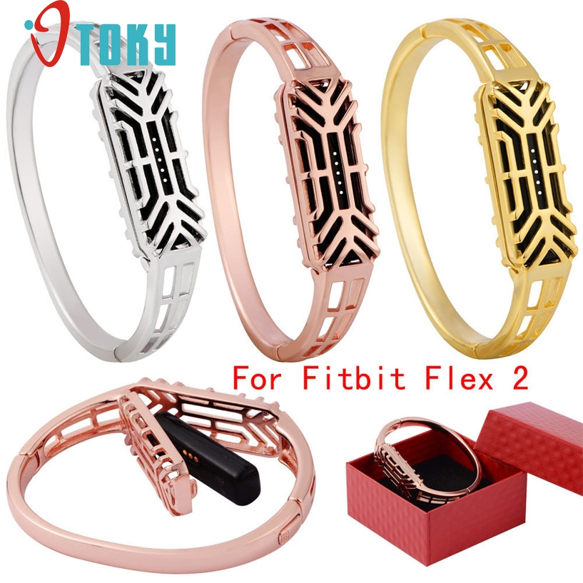OTOKY Watchbands Fashion Stainless Steel Accessory Bangle Watch Strap Strap For Fitbit Flex 2 Sporting Goods Accessories