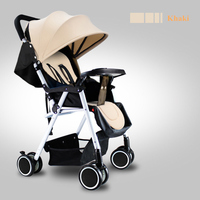 CH BABY Lightweight Summer Stroller Breathable Lycra Fabric Seat Collapsible Four Seasons Available Four Wheel Children Cart