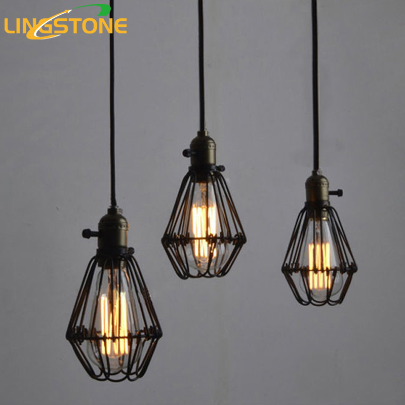 Vintage pendant lamp rustic light fixtures loft pendant for Luminaire exterieur retro