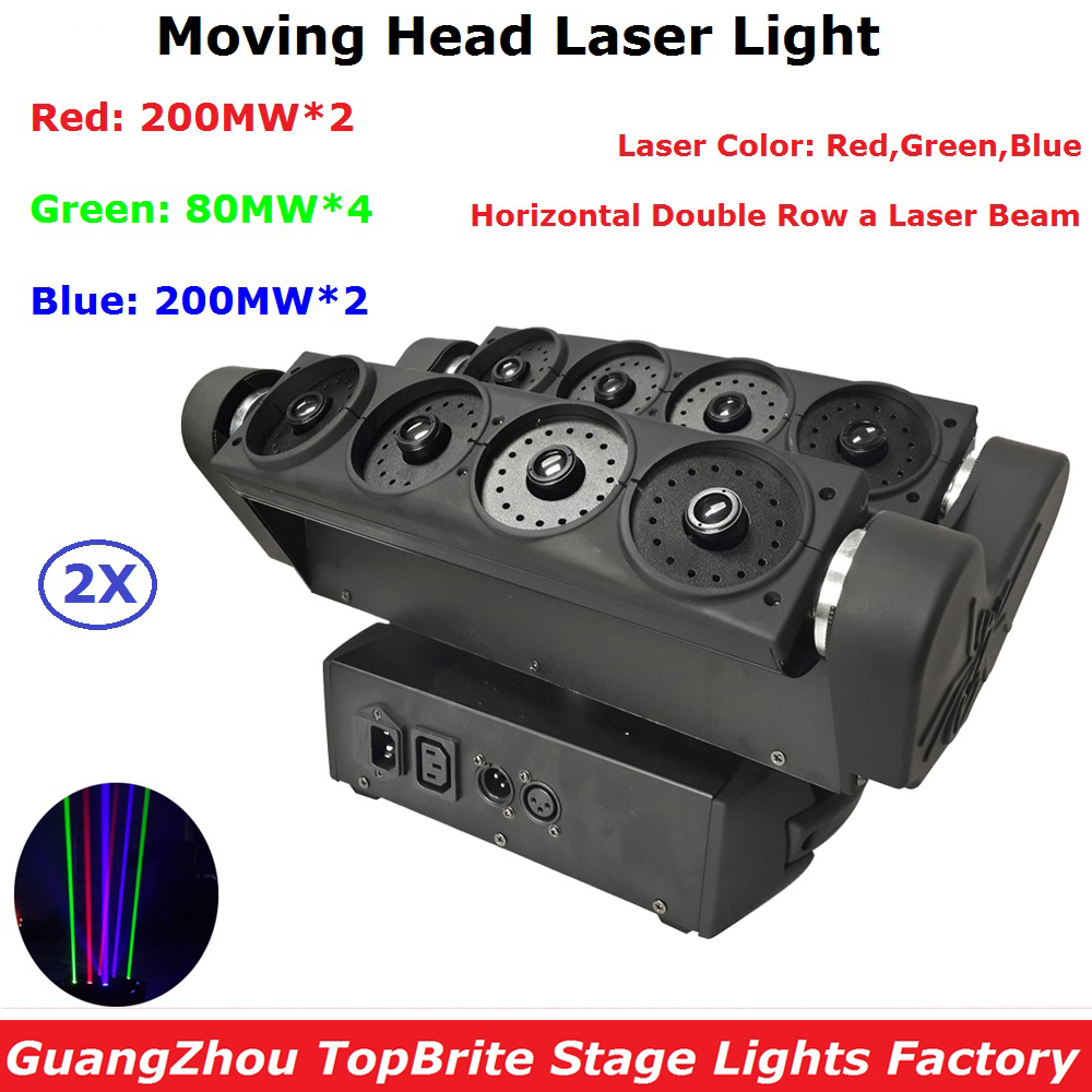 High Quality RGB Full Color Laser Light DMX512 Spider Beam Light Moving Head Stage Lights Dj Disco Party Lighting Equipments 2pcs high quality 512 dmx console stage light equipment 192 dmx controller for stage lighting led par beam lights