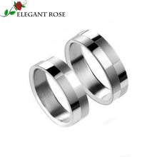 Elegant Rose Brand 2016 New Fashion High Quality Titanium Steel Lattice Wedding Ring For Men and Women XGM0027