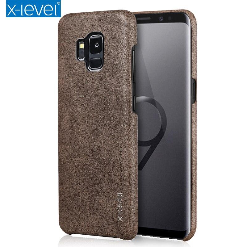 X-Nível PU Estojo De Couro Para Samsung Galaxy J3 J4 J5 J6 J7 A3 A5 A6 A7 A8 A9 2016/2017/2018 Nota 8 9 S7 S8 S9 Além Da Tampa Do Caso