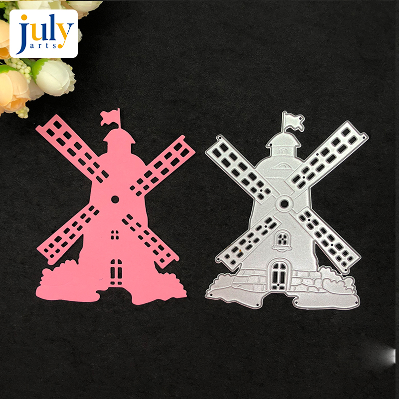 Julyarts Cutting Dies Silver Windmill Scrapbooking for Handwork Gift Creative Carbon Steel Material