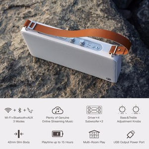 Image 2 - GGMM E5 20W אלחוטי רמקול Bluetooth Wi Fi נייד רמקול Altavoz Bluetooth טור חיצוני צליל תיבת DLNA HiFi צליל רמקול