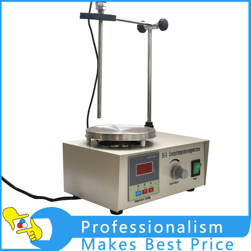 High Quality 110V 85-2 Magnetic Stirrer With Hotplate Digital Mixer Heating Plate Mixer 2017 new magnetic stirrer with heating for industry agriculture health and medicine scientific research and college labs