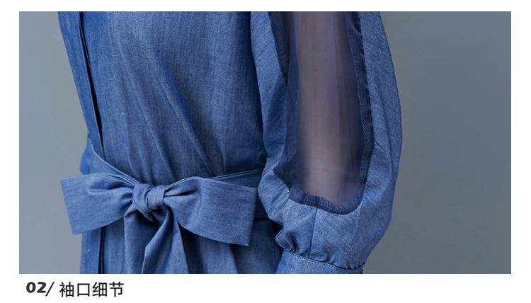 Dress female spring and autumn 2019 new fashion commuter slim strapless denim dress tide vestido Q280 27