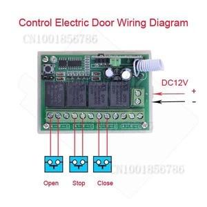Image 3 - 4 채널 dc 12 v 4ch rf 무선 원격 제어 스위치 시스템 315 mhz 433 mhz 송신기 및 수신기