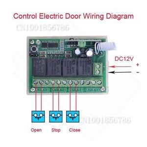 Image 3 - 4 kanal DC 12 V 4CH RF kablosuz uzaktan kumanda Anahtarı Sistemi 315 MHz 433 MHz Verici Ve Alıcı