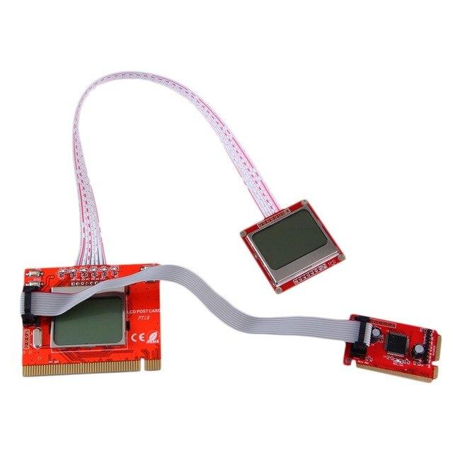 2016 Новейший Планшетный PCI Материнской Платы Analyzer Диагностический Тестер Сообщение Тестовая Карта для Портативных ПК Desktop PTI8