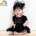 Enbaba baby girl dress princesa manga curta black dress baby girl aniversário dress criança menina roupas vestido infantil