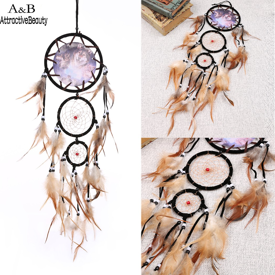 Handmade Dream Catcher Net With Feathers Hanging Decoration Craft Gift for home decorations N3020 кашпо gift n home сирень