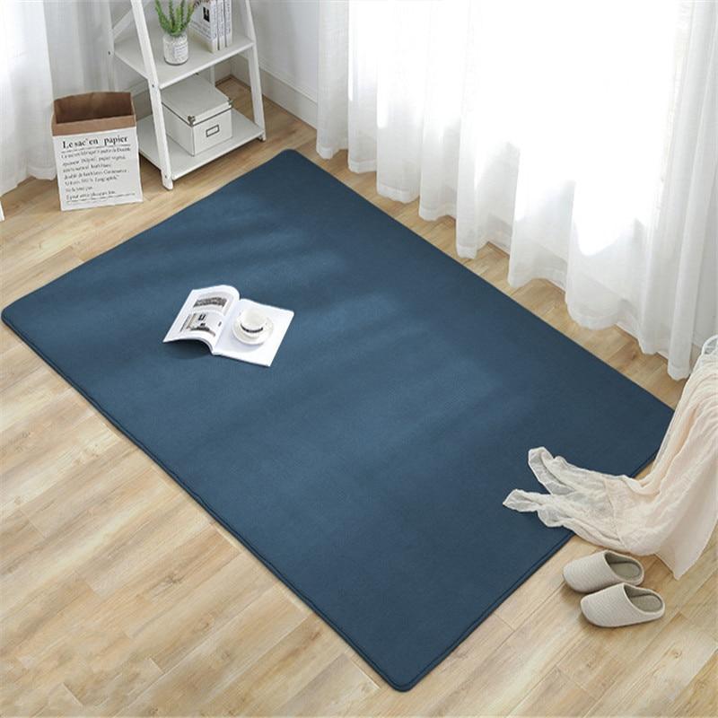 Nordic Coral Velvet Carpet Living Room Floor Mat Bedroom Non-slip Blanket Living Room Rug Bedroom Bedside Rectangular Floor Pad