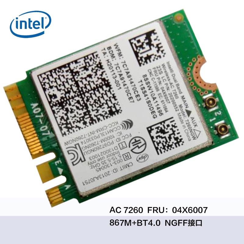 Y70-70 Y70-80 B40 B50 N40-30 WIFI 7260AC INTEL7260 AC 04X6007 WiFi + Bluetooth 4.0 Wifi kartica