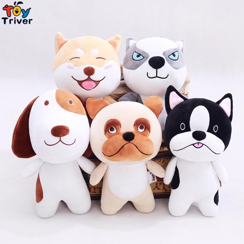 26cm Plush Japan Shiba Inu Husky Bulldog Dog Toy Stuffed Dogs Puppy Doll Baby Kids Birthday Christmas Gift Shop Decor Triver shiba inu dog japanese doll toy doge dog plush cute cosplay gift 25cm
