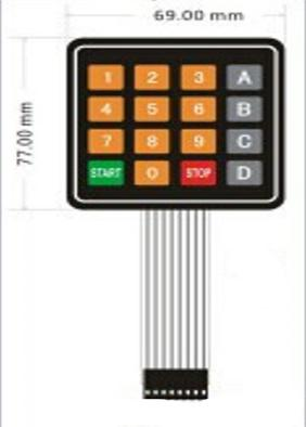 US $1 89 |DC 12V 4x4 16 ABCD Key Matrix Membrane Switch Keypad Keyboard 77  x 70 x 0 8mm-in Demo Board Accessories from Computer & Office on