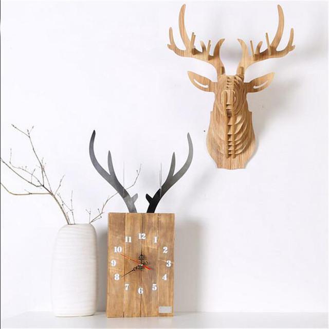 PINJEAS Lving Room Nordic Style Wooden Decor Hanging Wall Clocks Europe Bedroom Digital Wall Clock Decorations Birthday Gifts