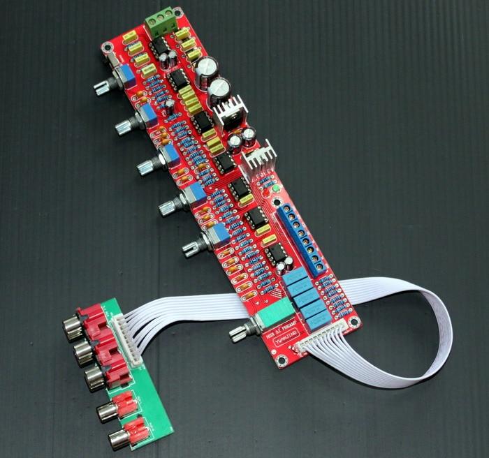 NE5532 HIFI 5.1 LOW PASS 50-150Hz Tone board for Amplifier 2X1000UF