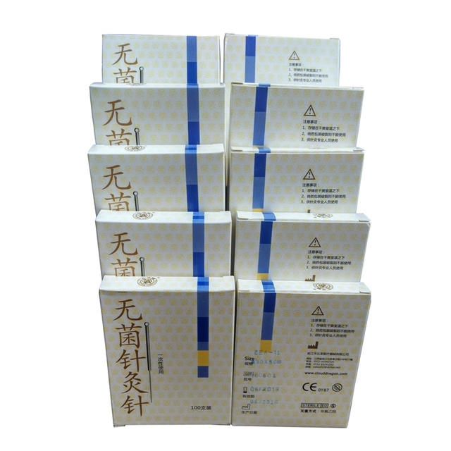 10boxes of 100pcs Cloud Dragon Acupuncture Needles Non-Needle-Tubing sterilization Package Version