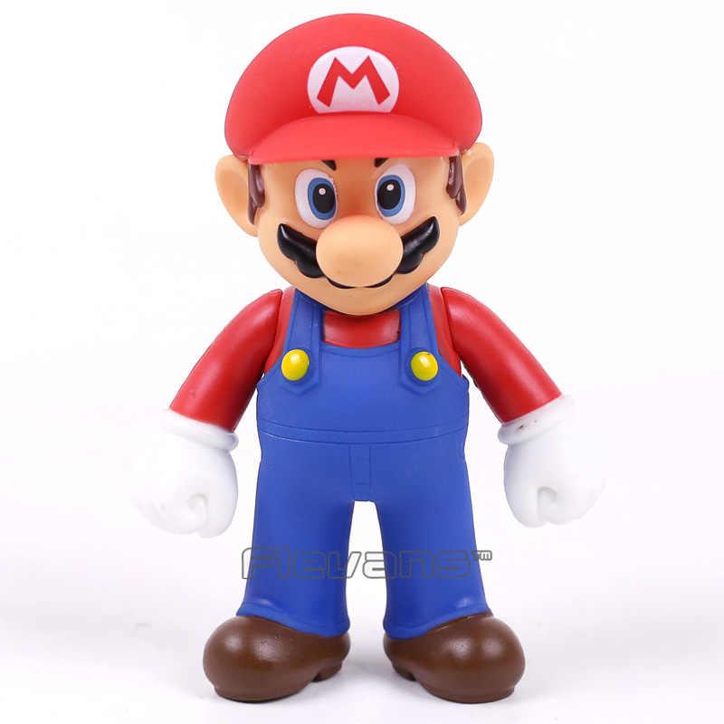 Super Mario Bros PVC Figura de Brinquedo Mario Luigi Wario Yoshi Bowser Peach Toad Donkey Kong Goomba Boo 20 Tipos 7 ~ 14 cm