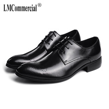 British retro men shoes all-match cowhide High Quality Genuine Leather Shoes Men,Lace-Up Business Men Shoes,Men Dress Shoes цена 2017