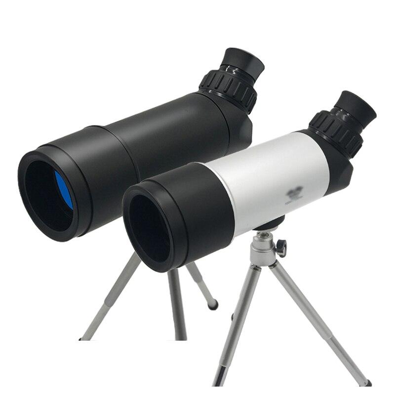 2018 New HD Monocular Telescope Mini Outdoor  Bird Telescopic With Tripod Spotting Scopes corner viewing Birding hunting