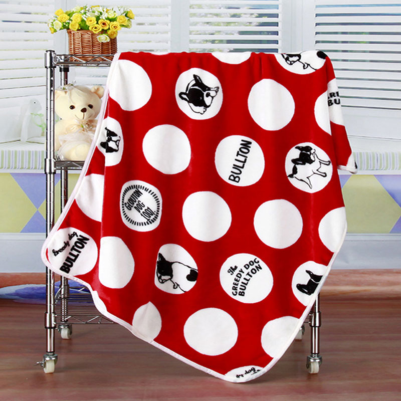 Home warm baby blanket dog travel quilt, for children sleep covered in baby bed on the mattress sofa office car.