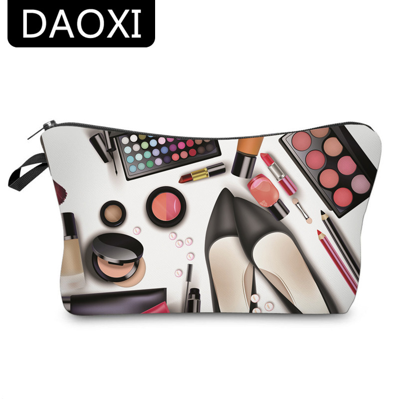 DAOXI 3D Printing Cosmetic Bags For Ladies Makeup Storage Travel Necessary YY10177
