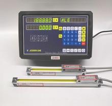 Lectura digital dro de 2 ejes con escala lineal Sino de alta precisión, codificador lineal Delgado, regla lineal para máquina de torno para laminado