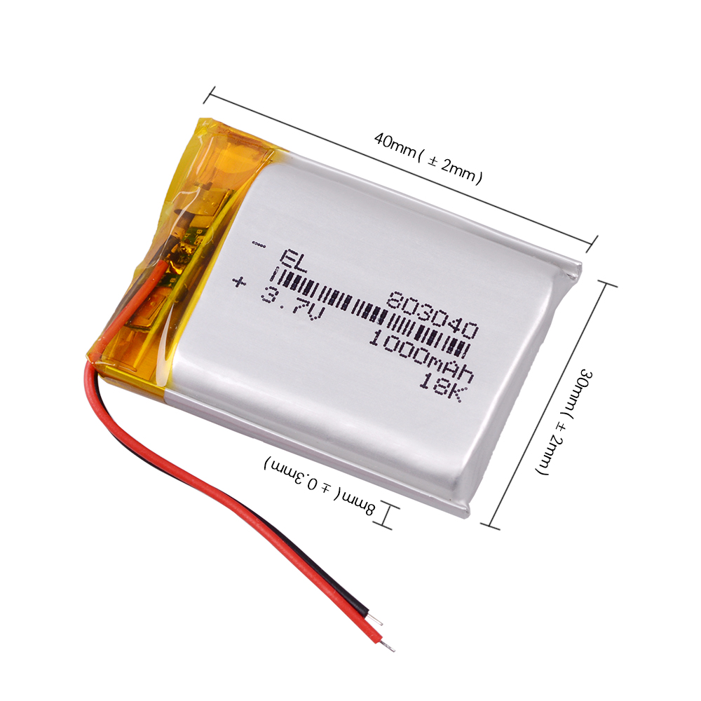 1000mah 3.7v 803040 Lithium Li Polymer Rechargeable Battery For Electronic Book Tablet Toys Mobile Pocket Replacement Batteries