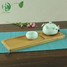 Six styles bamboo tea tray handmade wooden plate with mat for Chinese tea set afternoon Kung fu tea cup storage vintage crafts