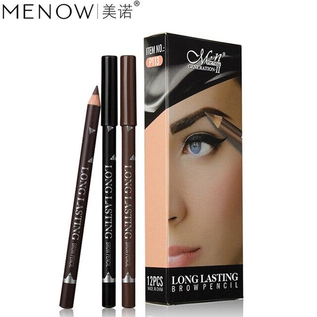 2019 New Hot Sale 12pcs Waterproof Eye Brow Pencil Black Brown Eyebrow Pen Long Lasting Makeup Drop Shipping 5