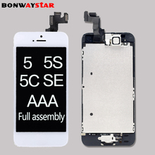 Full assembly LCD screen for iPhone 5/5C/5S/SE/6 LCD Display LCD Touch Screen Digitizer full Replacement pantalla+Button+Camera 20pcs none spot lcd pantalla for iphone 6s 4 7 lcd display touch screen replacement digitizer full assembly free dhl shipping