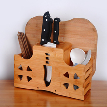 Creative Wood Knife Holder Multifunction Kitchen Knife Storage Rack Bamboo  Knife Block Kitchen Supplies
