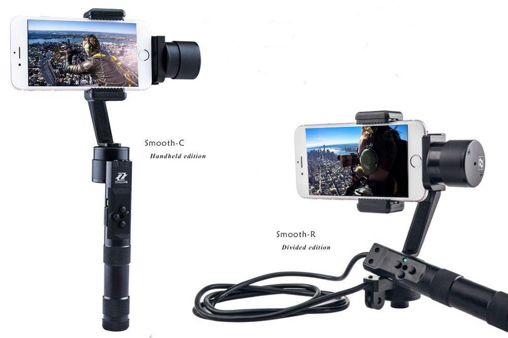 Zhiyun Z1 Гладкой C/Z1 Гладкой R 3 оси бесщеточный телефон ручной стабилизатор gimbal смартфон для iphone 6 plus