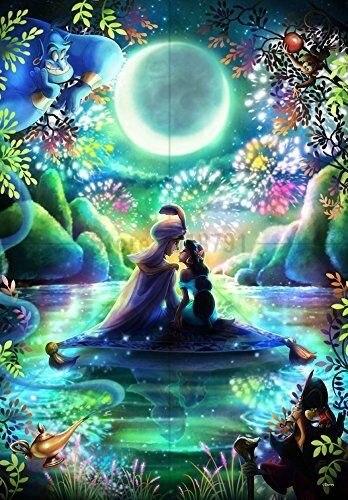 Princess Aladdin Diamond Painting Cross Stitch Diamond Embroidery 5D Diy Cartoon Diamond Mosaic Picture Rhinestones
