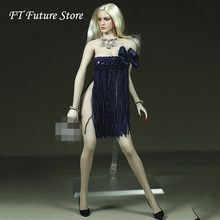 New Arrives 1/6 Scale Girl Female Figure Accessory Blue Dress Necklace Model For 12 Phicen  Large Bust Action Figure Body s02a s06b s09c s18a s19b s20a s21b s22a s23b 1 6 tbleague ph seamless mid large breast bust female body f 1 6 head figure