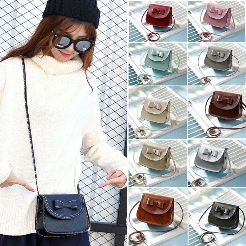 2019 Fashion Girls Bow Handbags Women PU Leather Clutch Mobile Purse Mini Shoulder Messenger Crossbody Bags Popular FA$B алиэкспресс сумка прозрачная