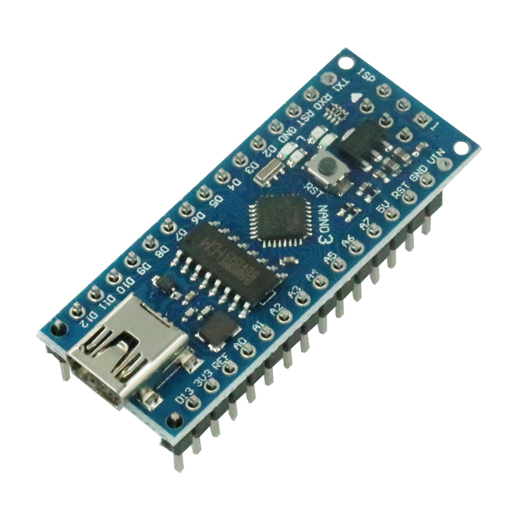 Nano V3 ATmega168 CH340 CH340G Mini USB UART Interface Compatibile Board Module 16Mhz 3.3V-5V Microcontroller Reset USB
