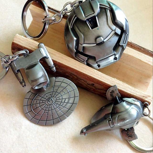 Star Wars: The Force Awakens Star Trek Spaceship Millennium Falcon Serenity Firefly Warships Key chains Ring