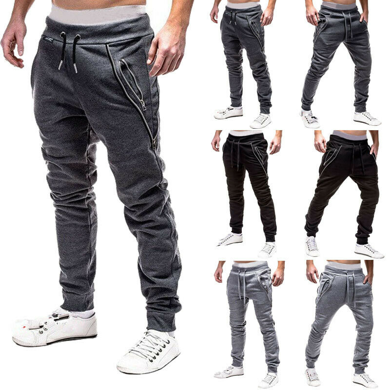 2019 New Men Pants Sport Pants Long Trousers Tracksuit Fitness Workout Joggers Gym Sweatpants Pants