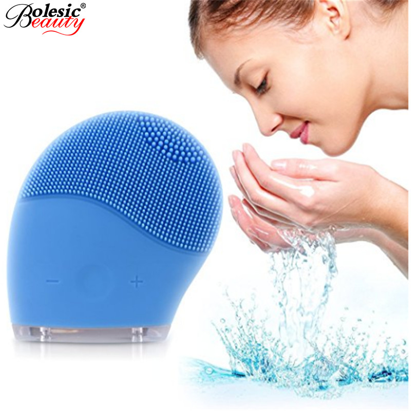 Electric Face Cleanser Vibrate Waterproof Silicone Cleansing Brush Massager Facial Vibration Skin Care Spa Massage ноутбук hp 15 ba005ur