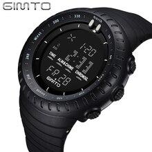 Gimto choque marca reloj militar hombres deportes relojes 5atm buceo digital de moda al aire libre niños electrónicos relojes de pulsera relogio
