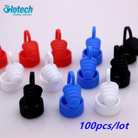 Glotech 100pcs/lot Silicone rubber Atomizer Dust Cap for E Cigarette vaporizer mouthpiece drip tip cap fit RDA RBA atomizer