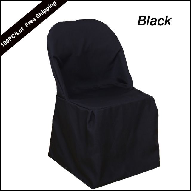 folding chair covers black kmart outdoor table and chairs set factory direct sale polyester plain color white seat for covering cover