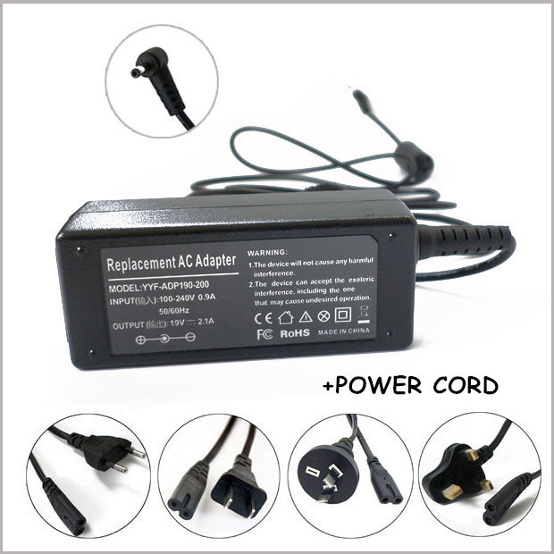 40 w ac adapter laptop charger per notebook <font><b>asus</b></font> eee mini pc 19 v 2.1a ac adapter 2.5x0.7mm 1015pe <font><b>1015pn</b></font> 1015pem image