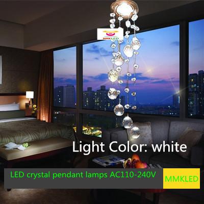 Modern lâmpada de cristal luz de teto AC110-240V D85MM * H300mm