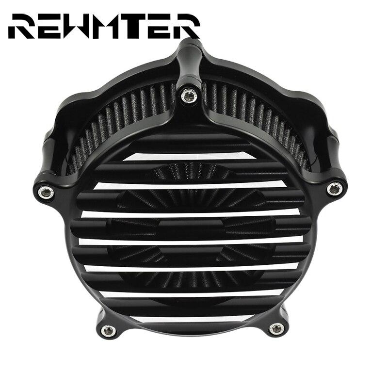 Серый фильтр для очистки воздуха мотоцикла с ЧПУ для Harley XL Sportster 91 17 Touring Street Glide 08 18 Softail 00 15 FXSBSE 13 14