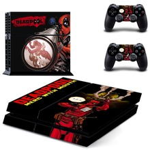 Film Deadpool PS4 Skin Sticker Decal Vinyl for Sony Playstation 4 Console and 2 Controllers PS4 Skin Sticker